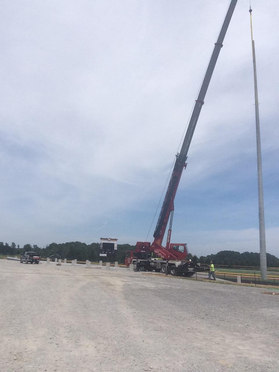placing lite poles