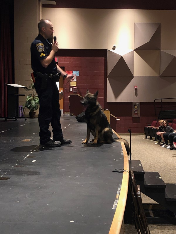 CPL Chris Albert and K9 ARGO
