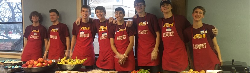 Boys Varsity Basketball Service Project